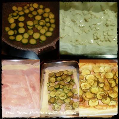 torta rustica con zucchine e prosciutto cotto