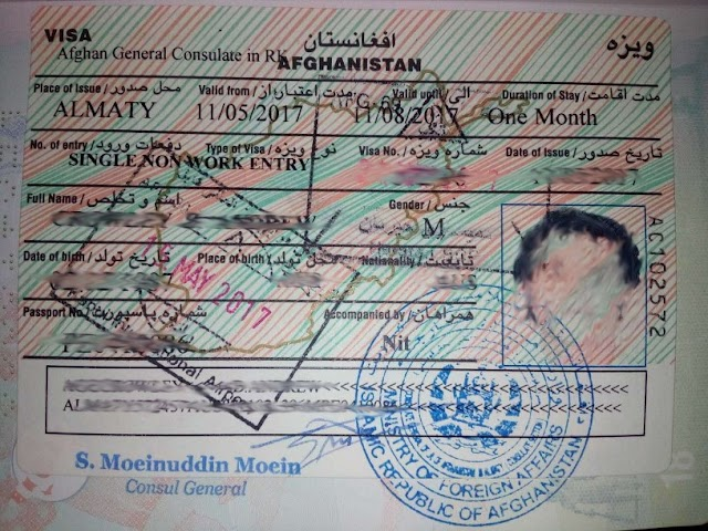 How To Get A Visa For Afghanistan?