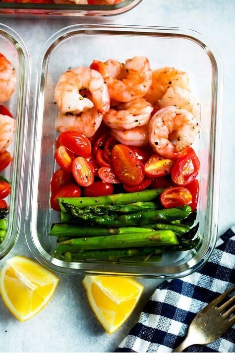 One-Sheet Pan Shrimp With Cherry Tomatoes And Asparagus (Meal-Prep)
