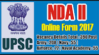 UPSC NDA II 2017 Final Exams Result with Marks