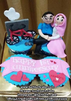 Cupcake Anniversary Tema Sepeda