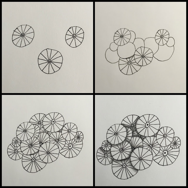 pattern drawing for use and inspiration