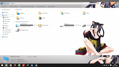 Theme Windows 10 Kuroka Highschool DxD 3