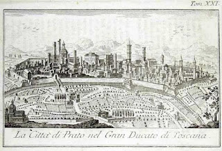 Immagine di Prato e delle mura nel 1757