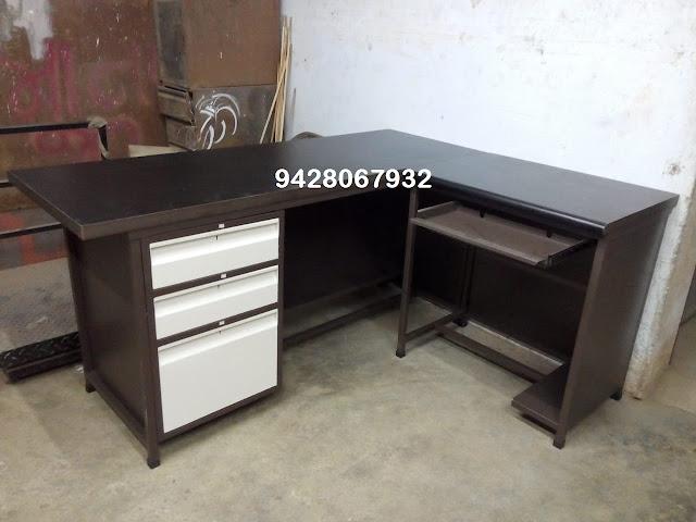 KAMAL STEEL PRODUCTS - 9428067932 L Shape Computer Table Manufacturer Pratapnagar vadodara