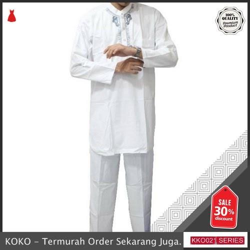 KKO21 ALH812 Baju Koko Pakistan Dewasa Pria Stelan Pakistan Putih BMGShop