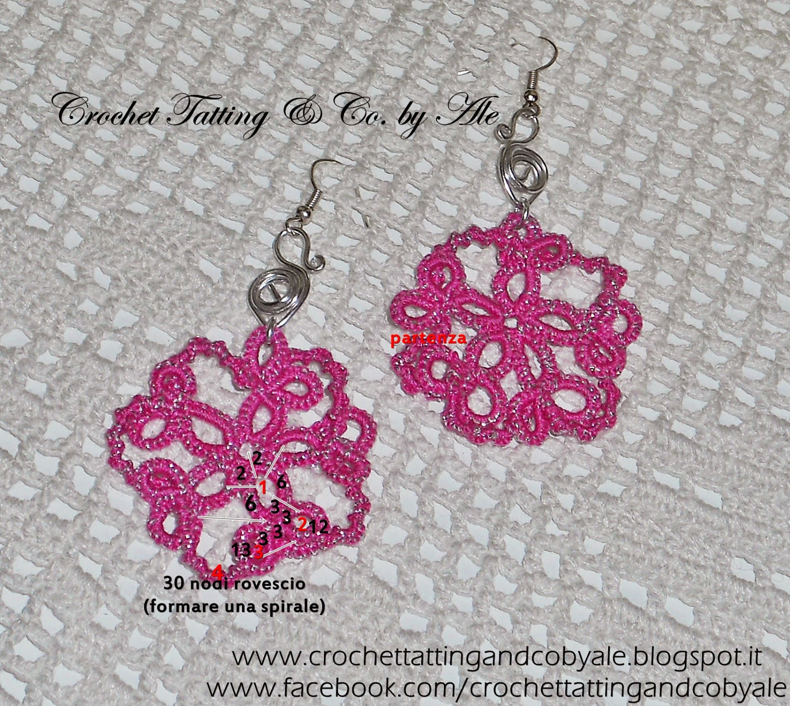 tatting earrings pattern