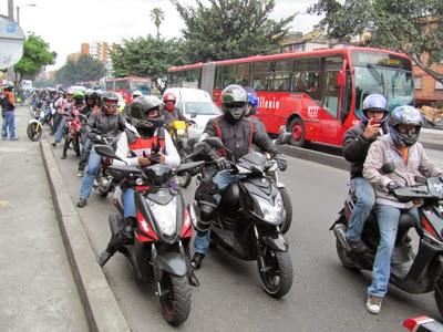 Día sin carro y sin moto: Motos