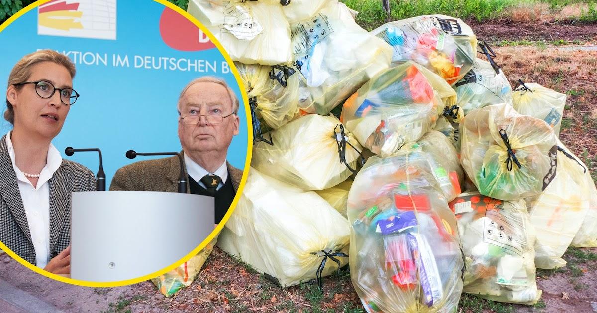 AfD bezweifelt, dass weltweiter Anstieg von Verpackungsmüll menschengemacht ist