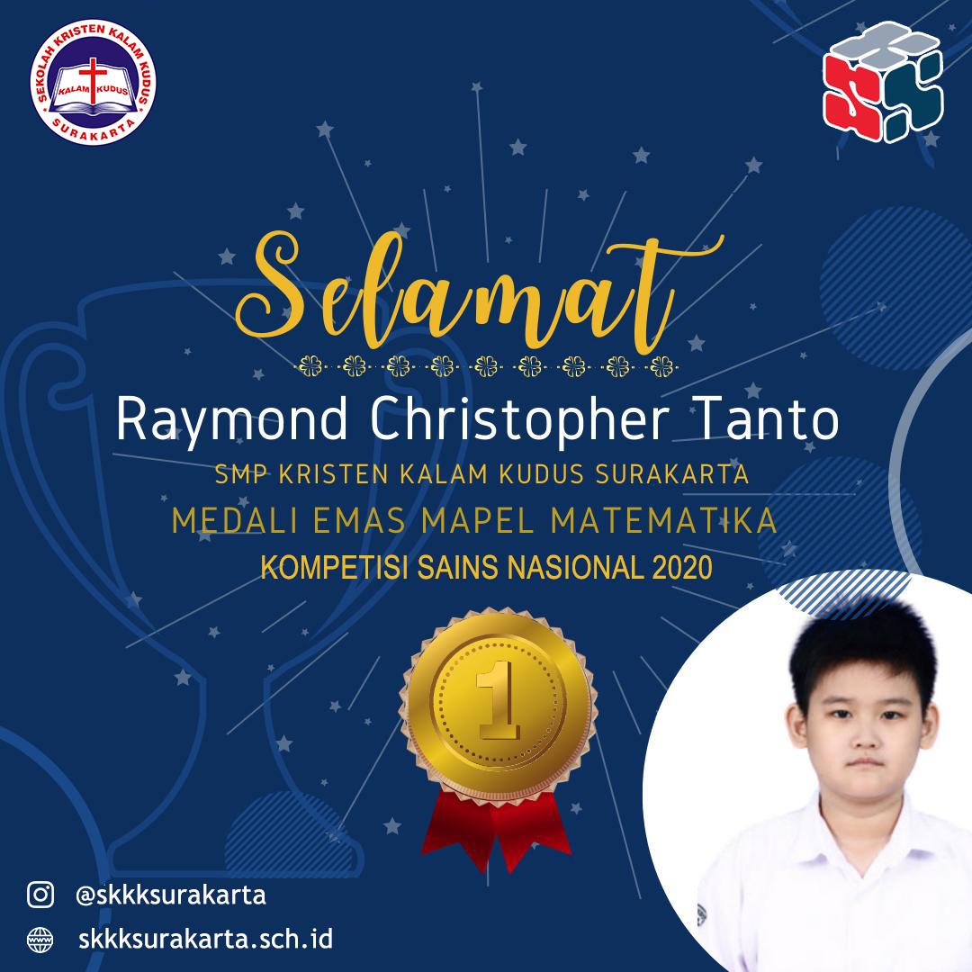 Raymond Christoper Tanto Raih Medali Emas di KSN 2020