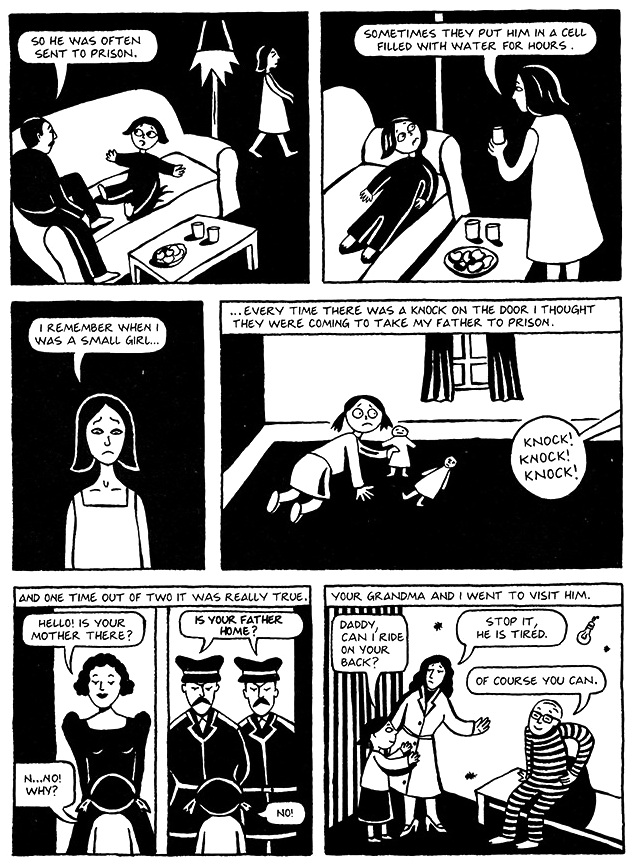 Read Chapter 3 - Water Cell, page 22, from Marjane Satrapi's Persepolis 1 - The Story of a Childhood