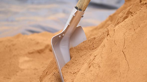 Sandy soils are poor in nutrients and does not hold water well