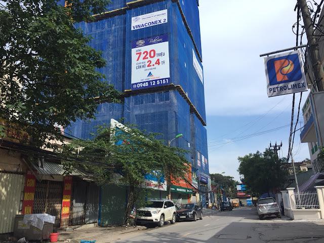 Hình ảnh câp nhật tiến độ dự án Bohemia residence nhìn từ đường Lê Văn Thiêm
