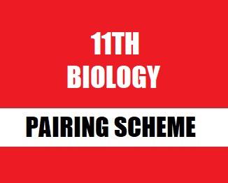 Intermediate Part-1 (11th) Biology Pairing Scheme 2019