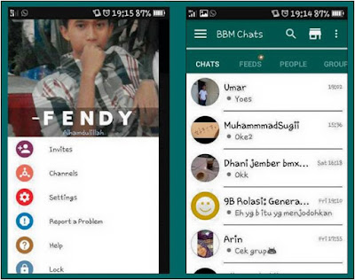 BBM MOD WhatsApp Theme Based New V.2.12.0.9 Clone