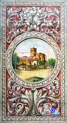 Plaza de España - Sevilla - Azulejo de Huesca - Iglesia de San Miguel