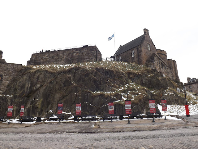 A view of Edinburgh castle grounds