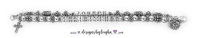 Christopher and Joseph Mother Charm Bracelet
