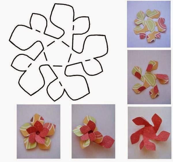 o bueno que te parecen estas ideas para hacer envoltorios en forma de flores