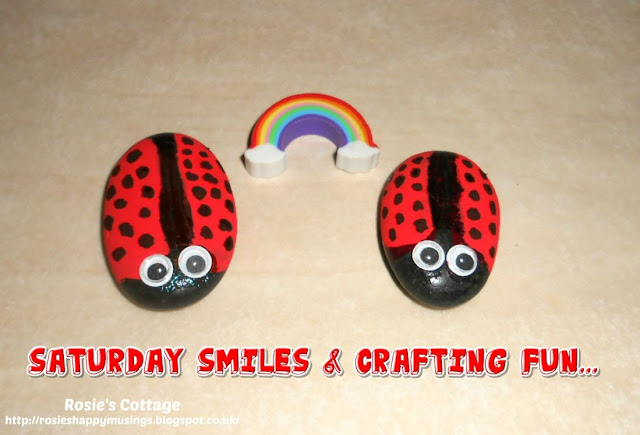 Saturday smiles& crafting fun: I'm having such fun honeys trying to paint little rocks and with air dry clay.