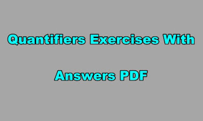 Quantifiers Exercises With Answers PDF