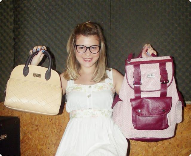 coleção de bolsas e mochilas