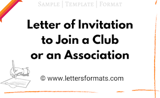 sample letter of invitation to join an association