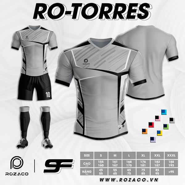 Áo Không Logo Rozaco RO-TORRES Màu Xám Trắng