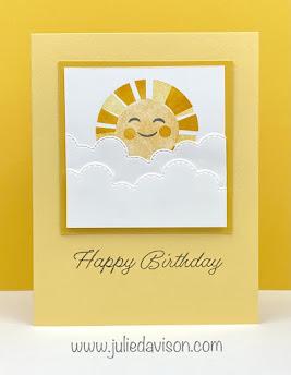 Stampin' Up! Sharing Sunshine Birthday Card ~ www.juliedavison.com #stampinup