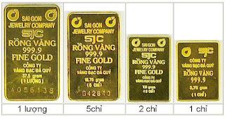 1 kg lượng chỉ phân vàng bằng bao nhiêu gram?