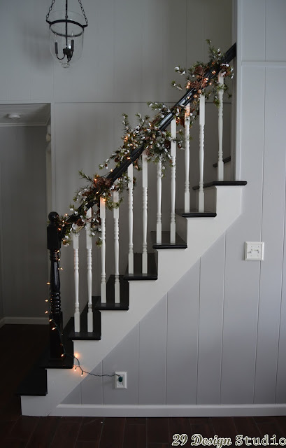 Painted Stairs Black and White