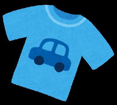 男の子のシャツのイラスト(子供服)