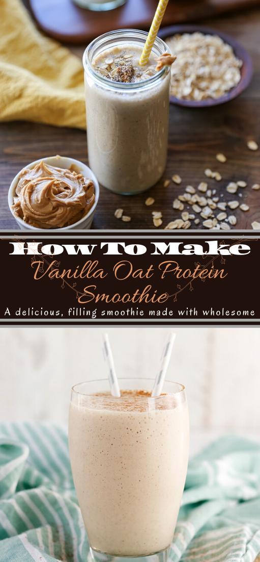Vanilla Oat Protein Smoothie  #healthydrink #easyrecipe #cocktail #smoothie