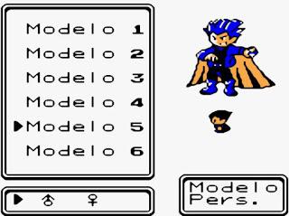 Pokemon Prism en Español para GBC Personalizar Personaje en Ropa y Pelo