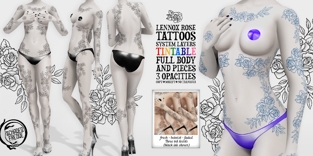 Schadenfreude Lennox Rose Tattoos
