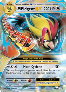 Mega Pidgeot EX Evolutions Pokemon Card