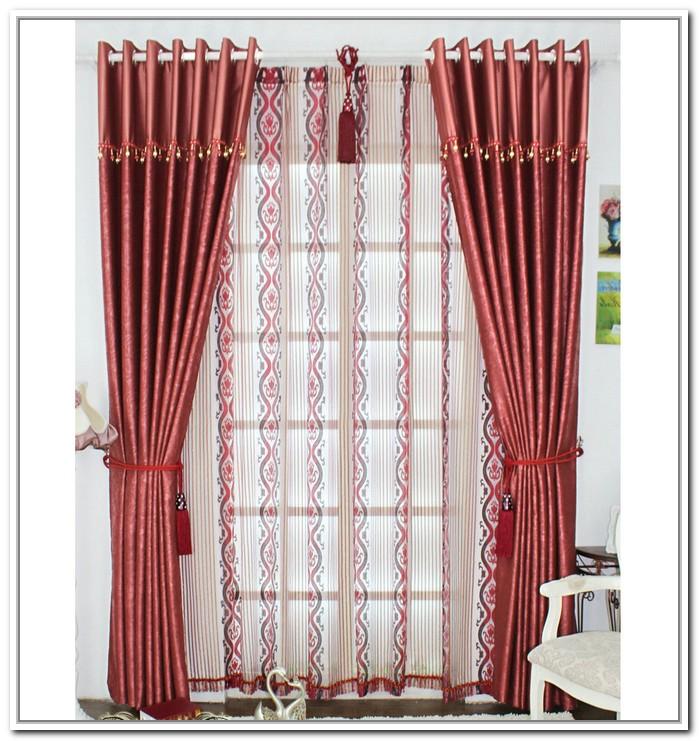 design d 39 interieur de la maison rideaux de bourgogne chics pour salon. Black Bedroom Furniture Sets. Home Design Ideas