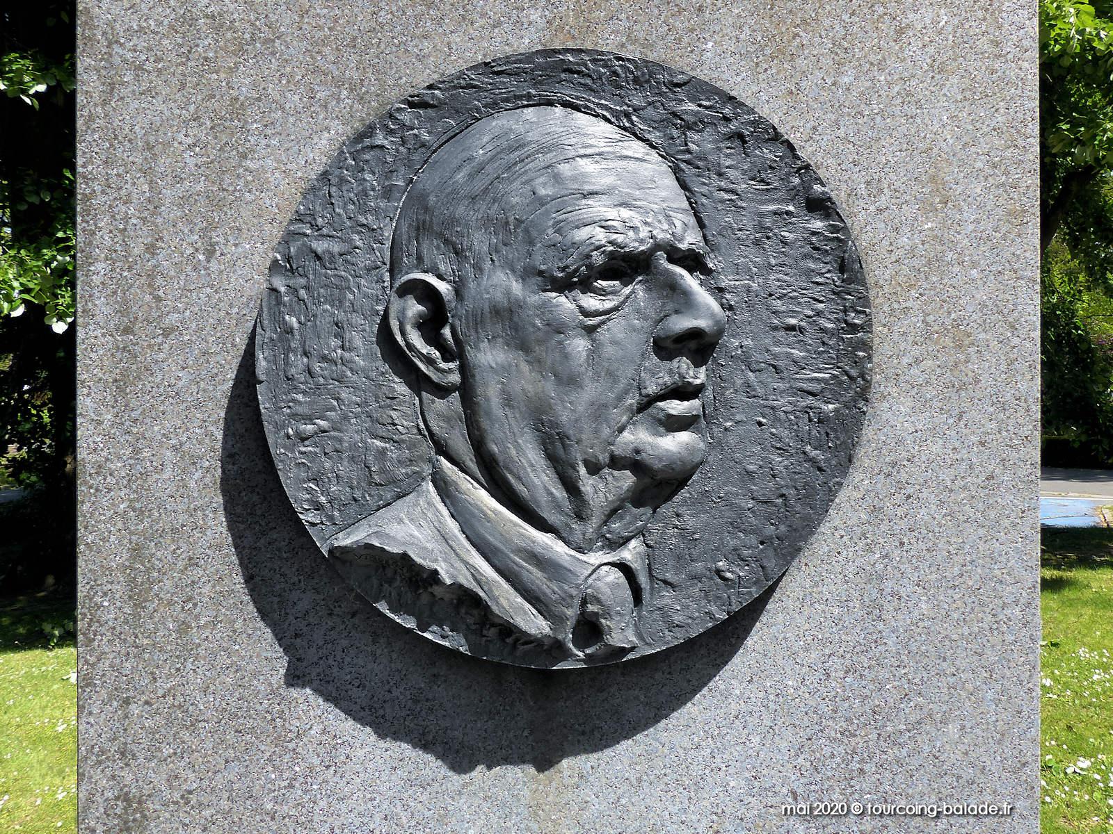 Médailon Charles de Gaulle, Mouvaux 2020
