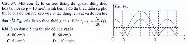 Câu 37 đề tham khảo vật lý 2021