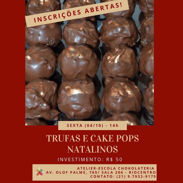 Trufas e Cake Pops Natalinos - Outubro 2019