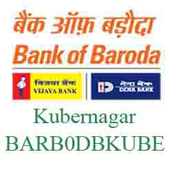 IFSC Code Dena Bank of Baroda Kubernagar