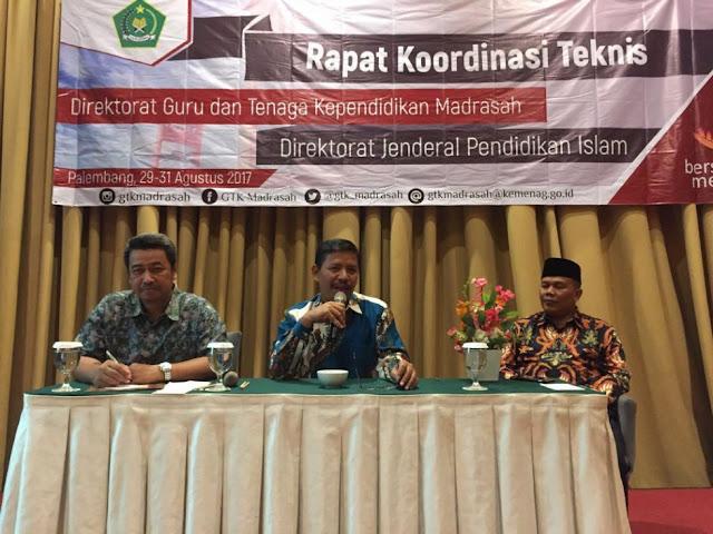 Suyitno dalam Rapat Koordinasi Teknis Direktorat Guru dan tenaga Kependidikan di Palembang, Rabu (30/8).