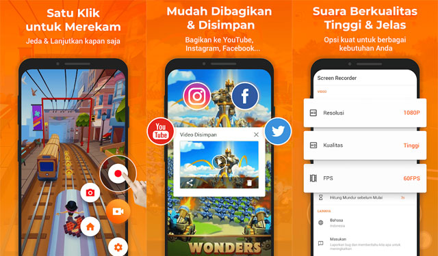 XRecorder Aplikasi Screen Recorder Android Gratis Terbaik