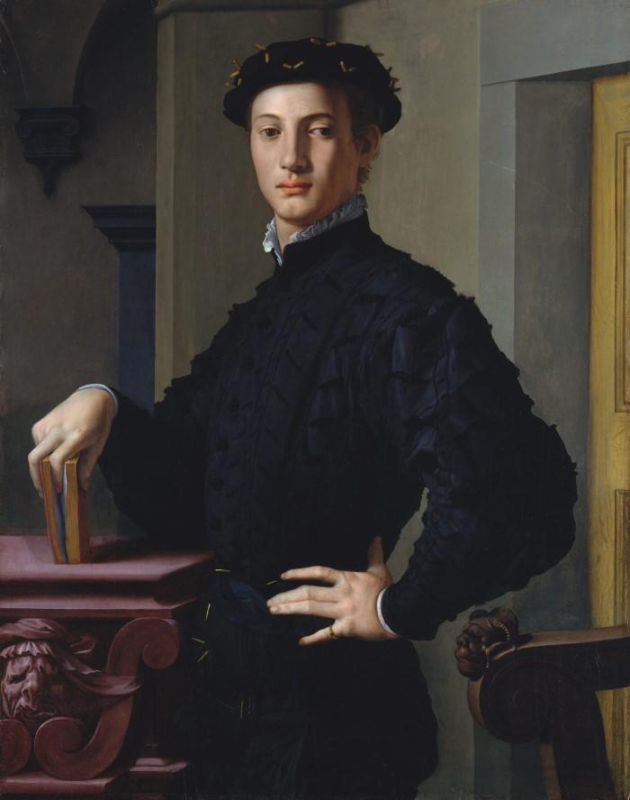 Portrait of a Young Man Artist Bronzino (Agnolo di Cosimo di Mariano (Custom)