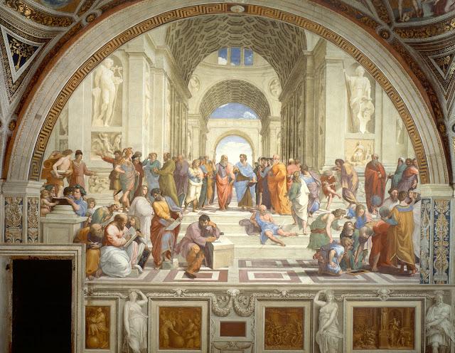 Raffaello Sanzio, Scuola di Atene, Musei Vaticani.