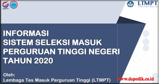 Juknis Sistem Seleksi SNMPTN, UTBK dan SBMPTN 2020