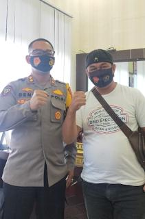 Kapolres Takalar Terima Kunjungan Silaturahmi Pimpinan Metro Online