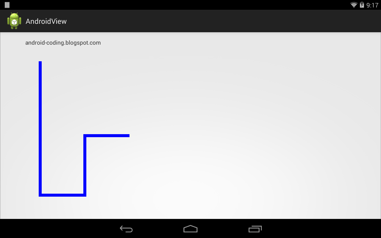 Android Coding: Draw path on custom View
