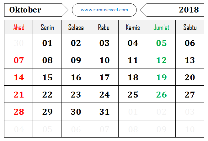 Kalender Format Excel
