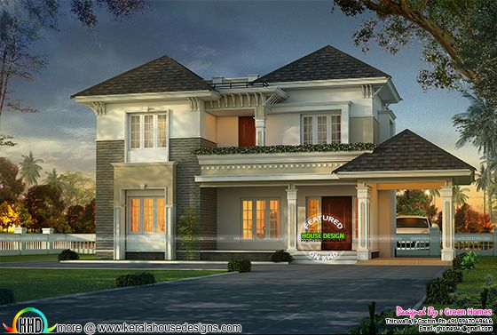 Stylish and elegant home design in grey roof